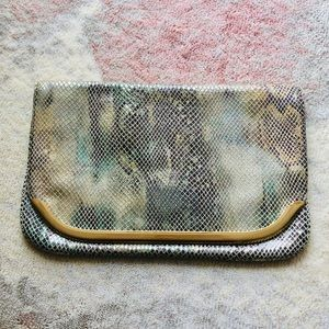 Banana Republic Snakeskin Clutch